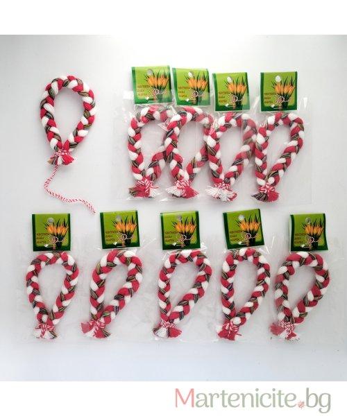 Мартеница гривна шарена плетка - опаковка 10бр. - модел 304