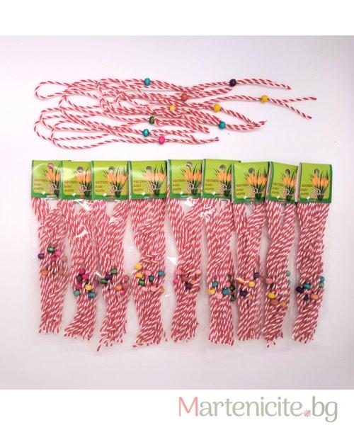Комплект мартеници гривни за всички - опаковка 10бр. - модел 424