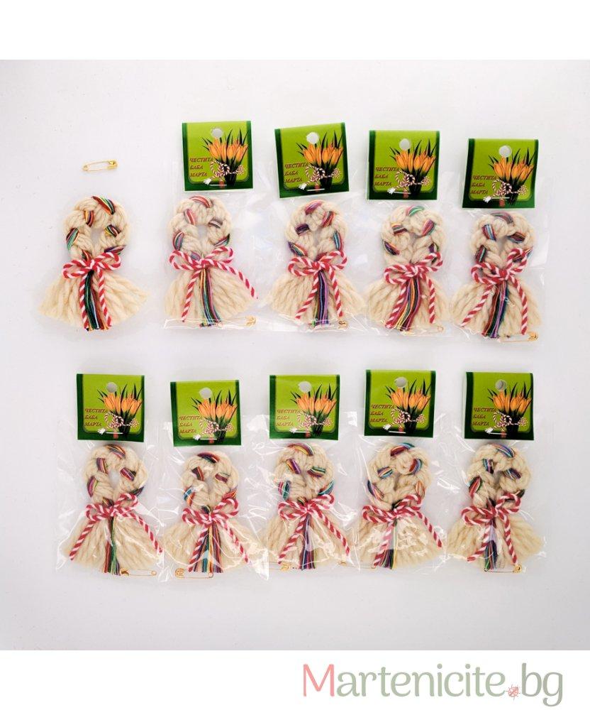 """Мартеница """"Цветен венец"""" - опаковка 10бр. - модел 509"""