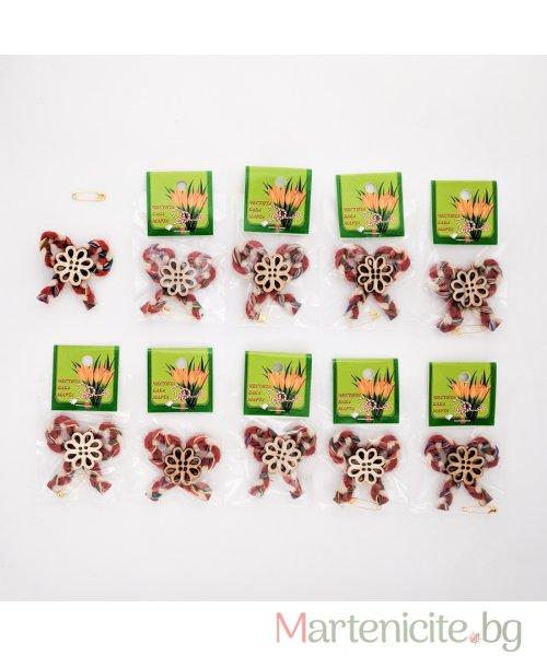 """Мартеница """"Цвете на панделка"""" - опаковка 10 бр. - модел 530"""