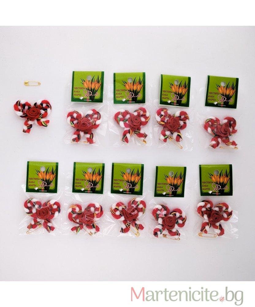"""Мартеница """"Роза на панделка"""" - опаковка 10бр. - модел 532"""