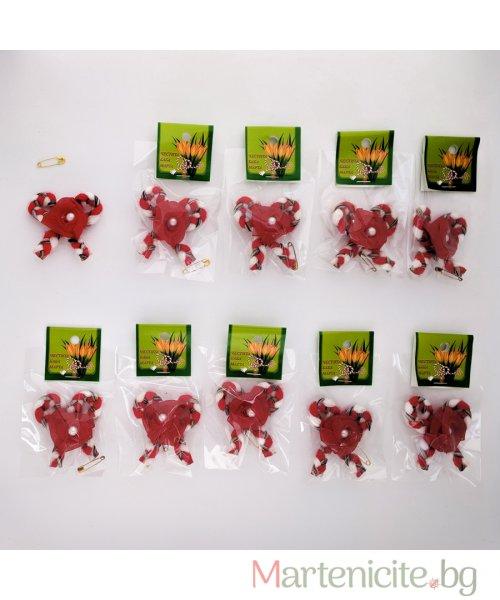 """Мартеница """"Панделка с роза"""" - опаковка 10бр. - модел 534"""