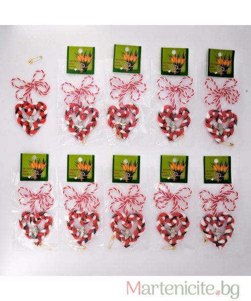"""Мартеница """"Сърце със слонче"""" - опаковка 10бр. - модел 543"""