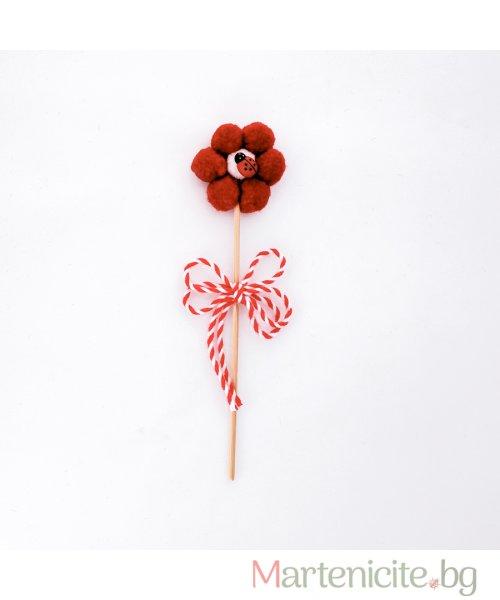 """Декоративна мартеница """"Малко цвете"""" - модел 800"""