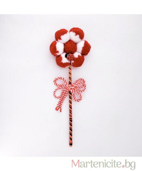 """Декоративна мартеница """"Голямо цвете"""" - модел 802"""