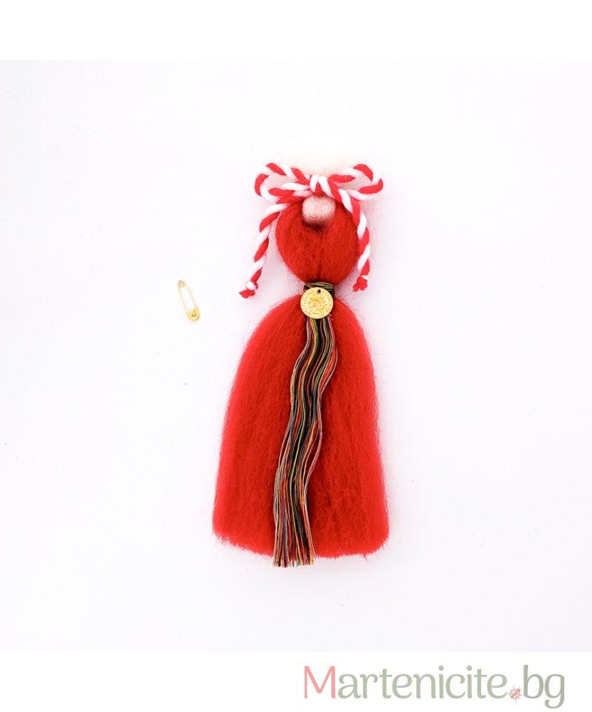 """Декоративна мартеница """"Анета"""" червена - модел 840"""
