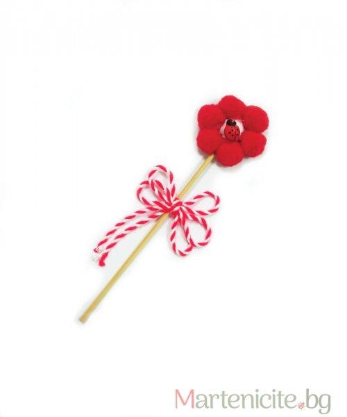 """Декоративна мартеница """"Малко цвете"""" - опаковка 10бр."""