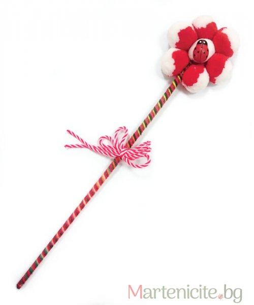 """Декоративна мартеница """"Голямо цвете"""" - опаковка 10бр."""