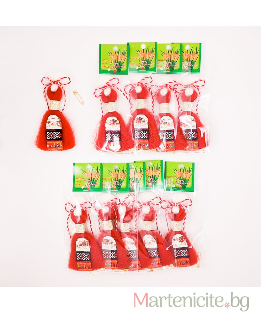 """Мартеница """"Марианета"""" червена - опаковка 10 бр. - модел 548"""